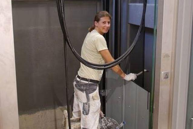 Umbau bei ebbers. Aufzug