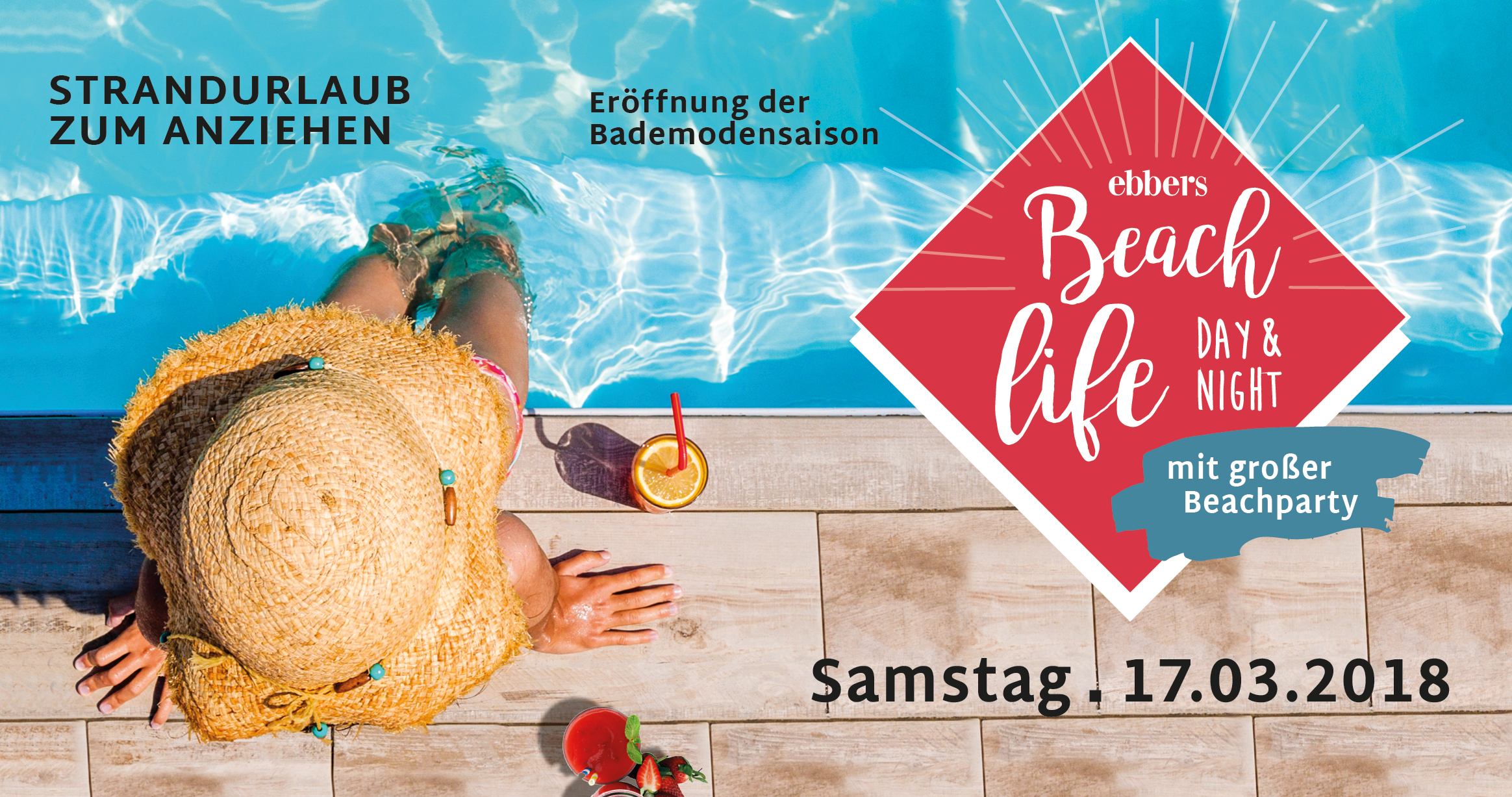 Beach life Day & Night bei ebbers, abends mit großer Beach Party